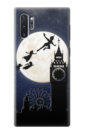 Printed Peter Pan Fly Fullmoon Night Samsung Galaxy Note 10 Plus Case