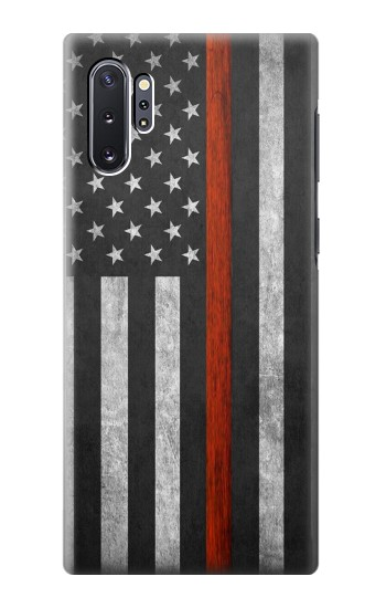 Printed Firefighter Thin Red Line Flag Samsung Galaxy Note 10 Plus Case