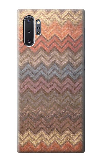 Printed Zigzag Fabric Pattern Graphic Printed Samsung Galaxy Note 10 Plus Case
