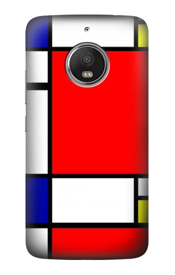 Printed Composition Red Blue Yellow HTC Desire Eye Case