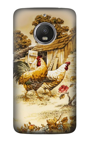 Printed French Country Chicken HTC Desire Eye Case