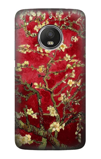 Printed Red Blossoming Almond Tree Van Gogh HTC Desire Eye Case