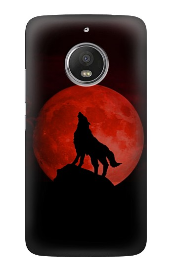 Printed Wolf Howling Red Moon HTC Desire Eye Case