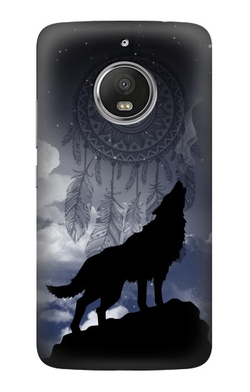 Printed Dream Catcher Wolf Howling HTC Desire Eye Case
