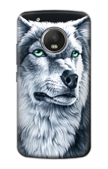 Printed Grim White Wolf Apple iPod Touch 5G Case