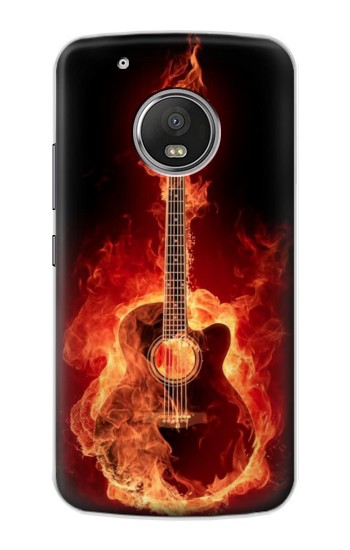 Printed Fire Guitar Burn Apple iPod Touch 5G Case