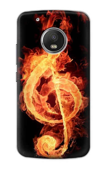 Printed Music Note Burn Apple iPod Touch 5G Case