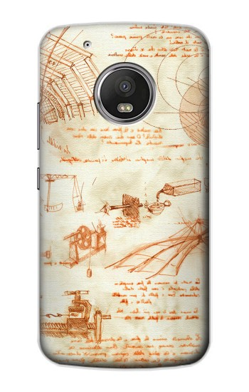 Printed Technical Drawing Da Vinci Apple iPod Touch 5G Case