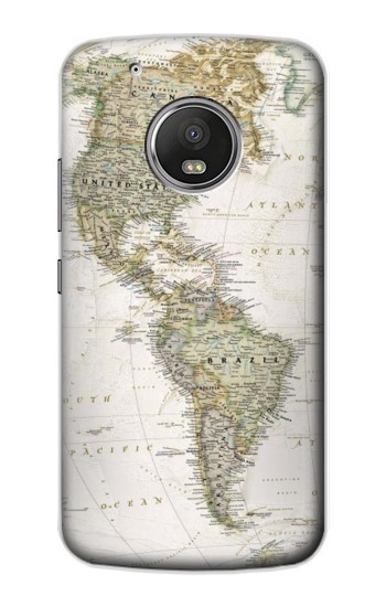 Printed World Map Apple iPod Touch 5G Case