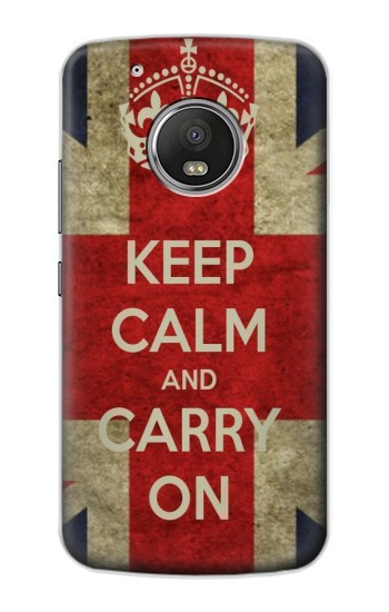 Printed Keep Calm and Carry On Apple iPod Touch 5G Case