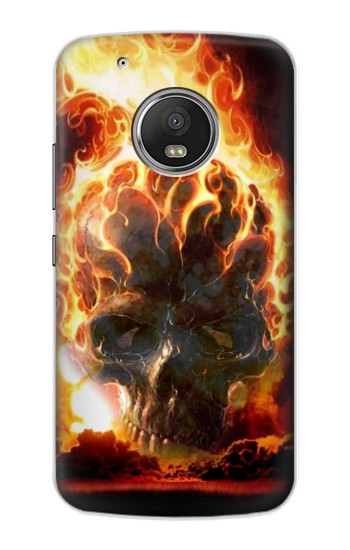 Printed Hell Fire Skull Apple iPod Touch 5G Case