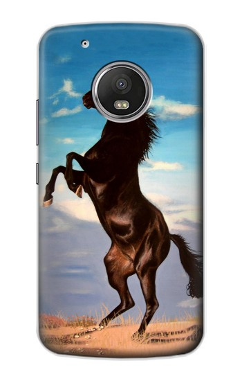Printed Wild Black Horse Apple iPod Touch 5G Case