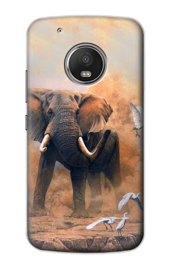 Printed Dusty Elephant Egrets Apple iPod Touch 5G Case