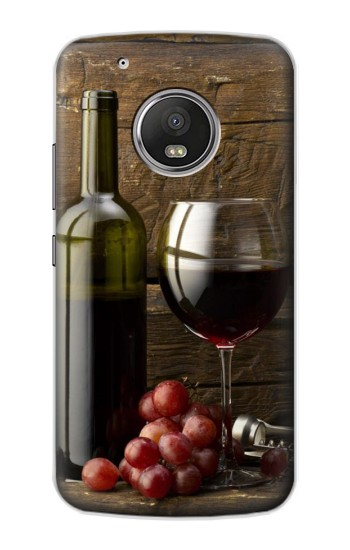 Printed Grapes Bottle and Glass of Red Wine Apple iPod Touch 5G Case