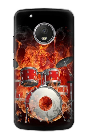 Printed Skull Drum Fire Rock Apple iPod Touch 5G Case