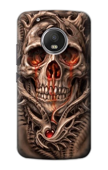 Printed Skull Blood Tattoo Apple iPod Touch 5G Case