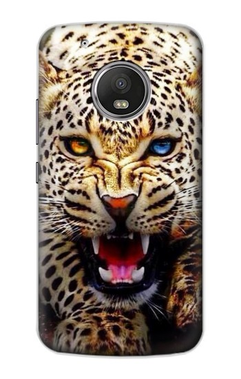 Printed Blue Eyed Leopard Apple iPod Touch 5G Case