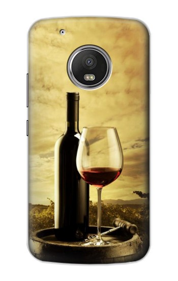 Printed A Grape Vineyard Grapes Bottle and Glass of Red Wine Apple iPod Touch 5G Case