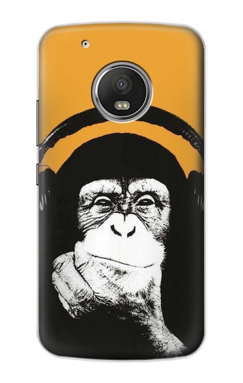 Printed Funny Monkey with Headphone Pop Music Apple iPod Touch 5G Case