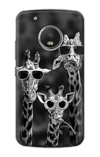Printed Giraffes With Sunglasses Apple iPod Touch 5G Case