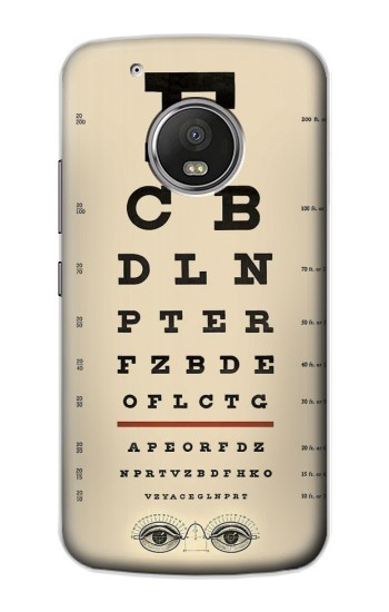Printed Eye Exam Chart Decorative Decoupage Poster Apple iPod Touch 5G Case