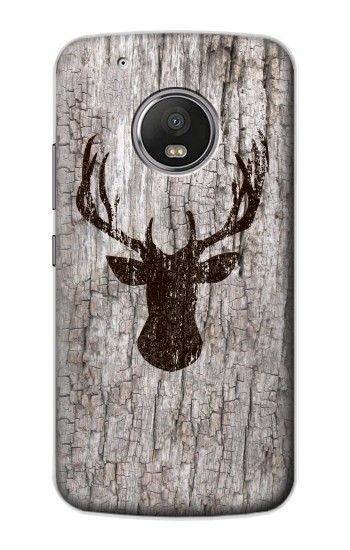 Printed Deer Head Old Wood Texture Apple iPod Touch 5G Case