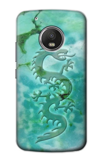 Printed Chinese Dragon Green Turquoise Stone Apple iPod Touch 5G Case