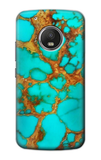 Printed Aqua Copper Turquoise Gems Apple iPod Touch 5G Case