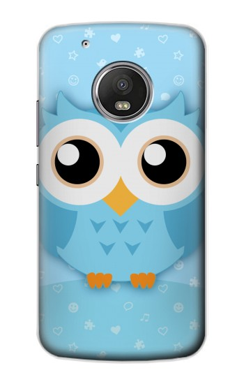 Printed Cute Blue Owl Apple iPod Touch 5G Case