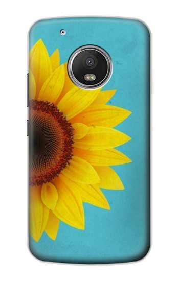 Printed Vintage Sunflower Blue Apple iPod Touch 5G Case