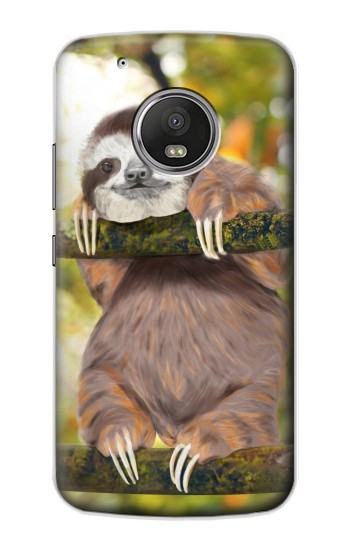 Printed Cute Baby Sloth Paint Apple iPod Touch 5G Case