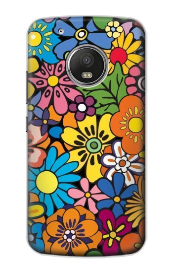 Printed Colorful Flowers Pattern Apple iPod Touch 5G Case