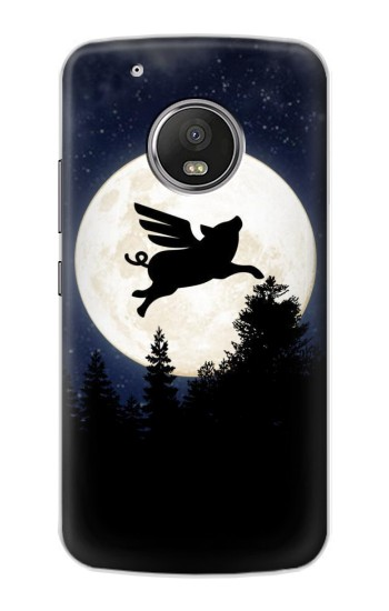 Printed Flying Pig Full Moon Night Apple iPod Touch 5G Case