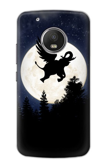 Printed Flying Elephant Full Moon Night Apple iPod Touch 5G Case