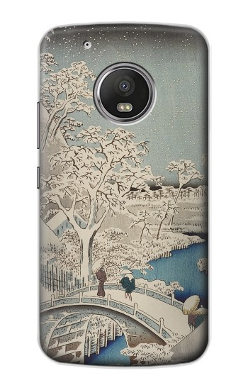 Printed Utagawa Hiroshige The Drum Bridge at Yuhi Hill in Meguro Apple iPod Touch 5G Case