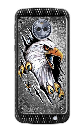 Printed Eagle Metal Motorola Moto G6 Plus Case