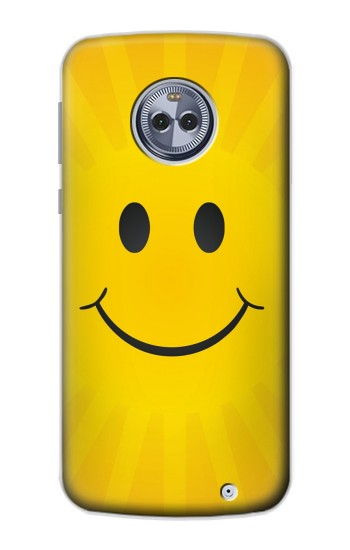 Printed Yellow Sun Smile Motorola Moto G6 Plus Case
