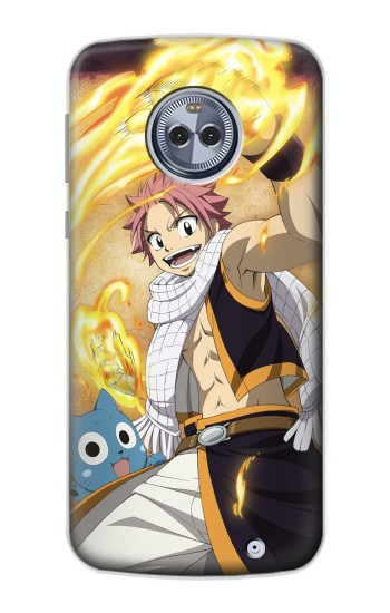 Printed Fairy Tail Natsu Happy Motorola Moto G6 Plus Case