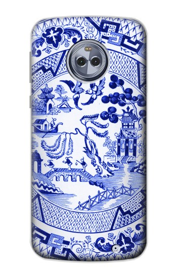Printed Willow Pattern Illustration Motorola Moto G6 Plus Case