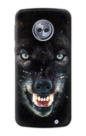 Printed Black Wolf Blue Eyes Face Motorola Moto G6 Plus Case