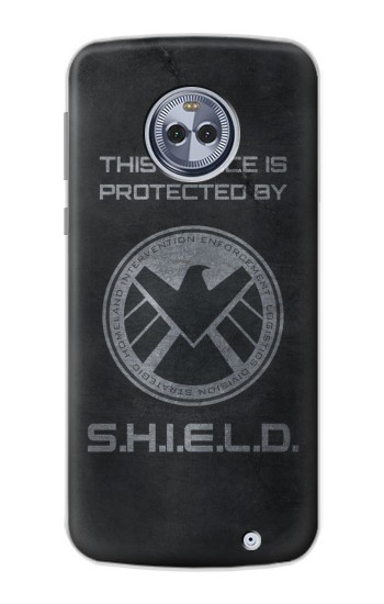 Printed This Device is Protected by Shield Motorola Moto G6 Plus Case