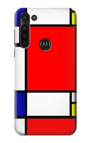 Printed Composition Red Blue Yellow Motorola Moto G8 Power Case