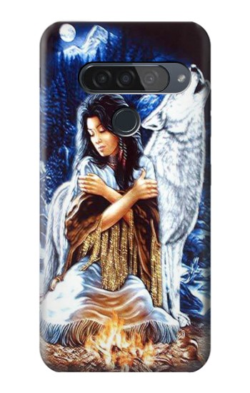 Printed Grim Wolf Indian Girl LG G8S ThinQ Case