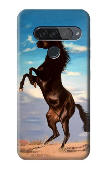 Printed Wild Black Horse LG G8S ThinQ Case