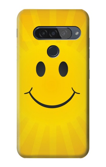 Printed Yellow Sun Smile LG G8S ThinQ Case
