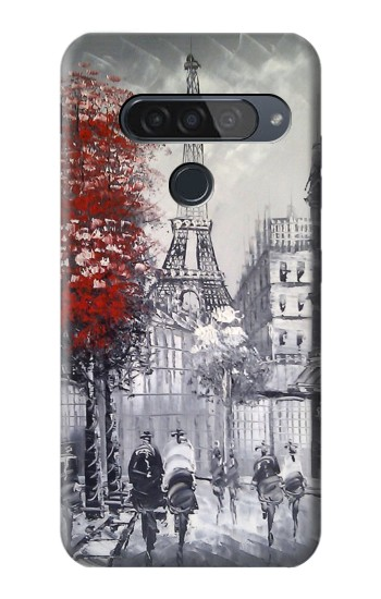Printed Eiffel Painting of Paris LG G8S ThinQ Case