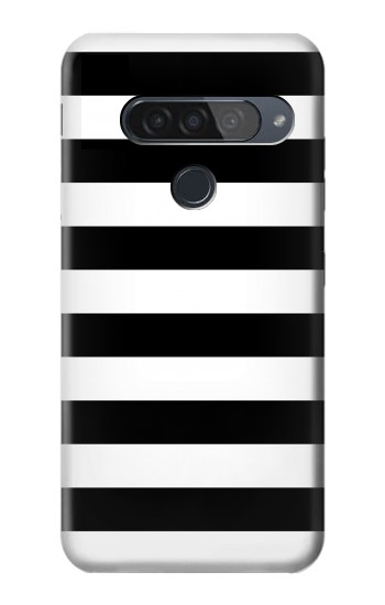 Printed Black and White Striped LG G8S ThinQ Case