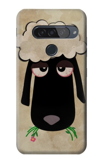 Printed Cute Cartoon Unsleep Black Sheep LG G8S ThinQ Case