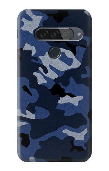 Printed Navy Blue Camouflage LG G8S ThinQ Case