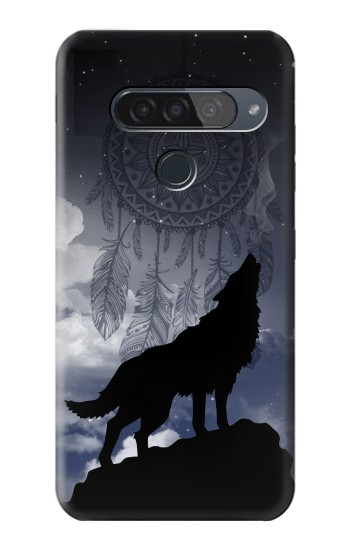 Printed Dream Catcher Wolf Howling LG G8S ThinQ Case